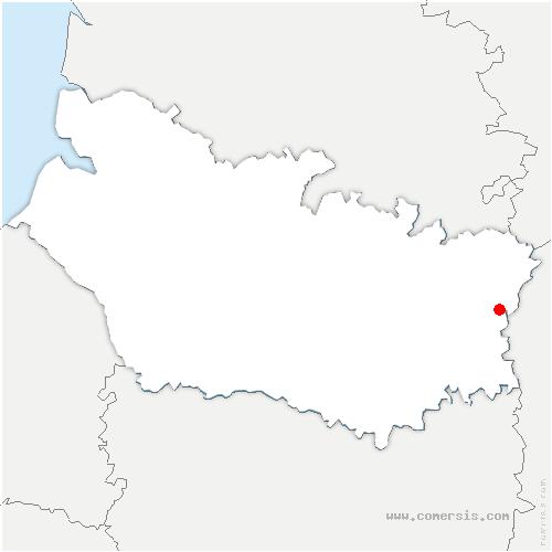 carte de localisation de Vraignes-en-Vermandois