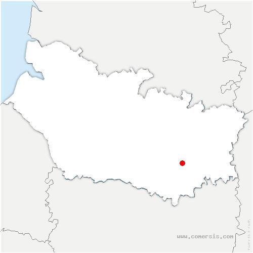 carte de localisation de Warvillers