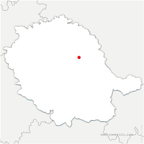 carte de localisation de Bellegarde-Marsal