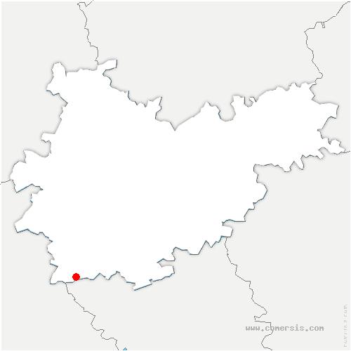 carte de localisation de Causé
