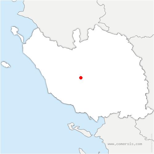 carte de localisation de Aubigny-les-Clouzeaux