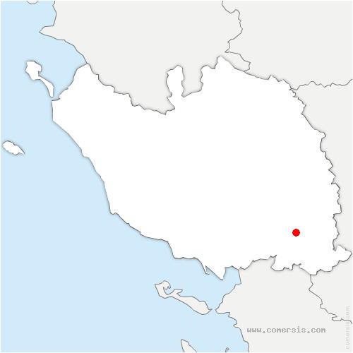 carte de localisation de Auchay-sur-Vendée