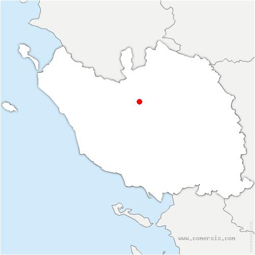carte de localisation de Bellevigny