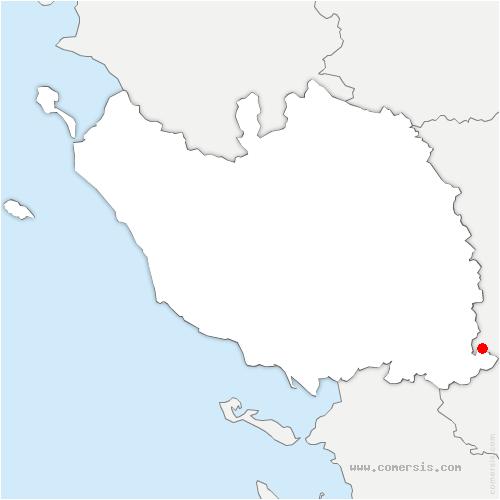 carte de localisation de Benet