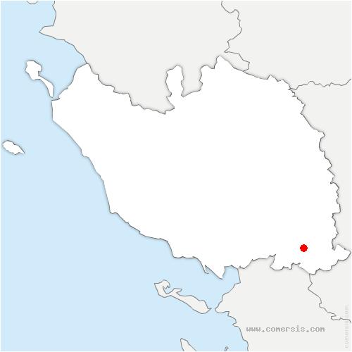 carte de localisation de Doix-lès-Fontaines