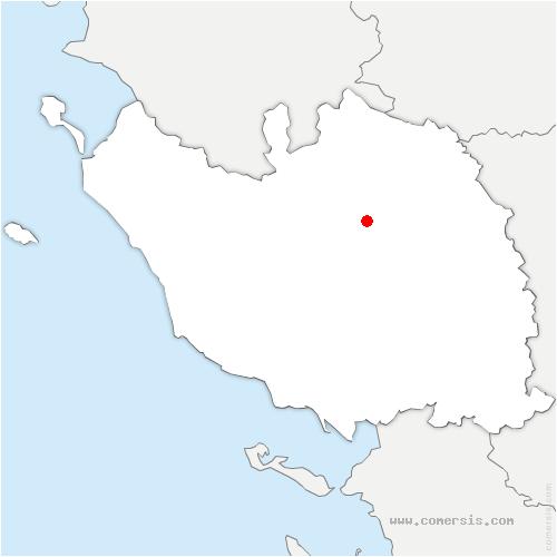 carte de localisation de Essarts-en-Bocage