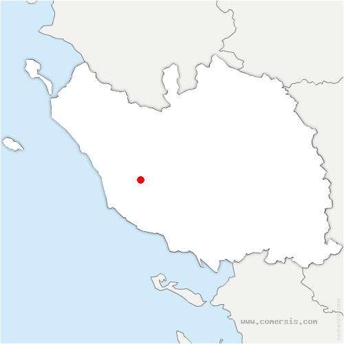 carte de localisation de Les Achards