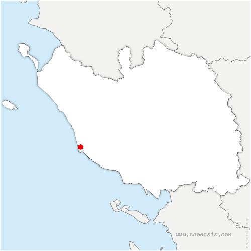carte de localisation de Les Sables-d'Olonne