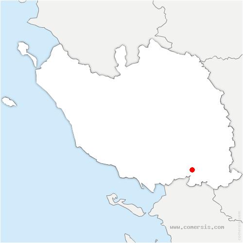 carte de localisation de Les Velluire-sur-Vendée