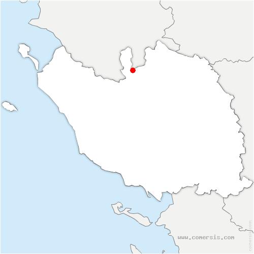carte de localisation de Montréverd