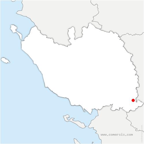 carte de localisation de Oulmes