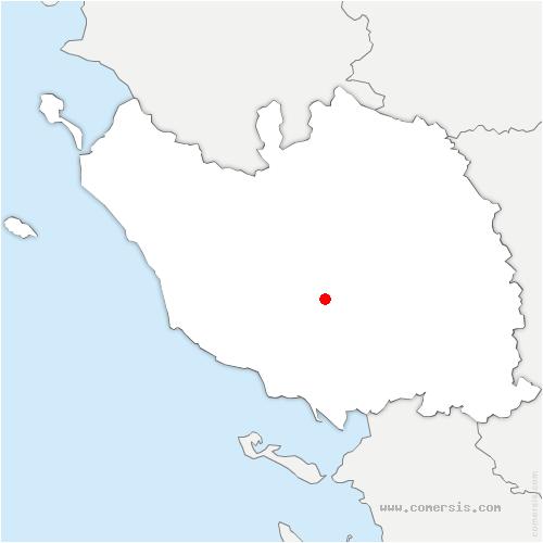 carte de localisation de Rives-de-l'Yon