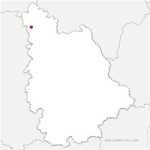 carte de localisation de Arçay