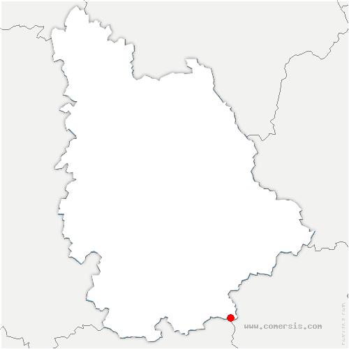 carte de localisation de Asnières-sur-Blour
