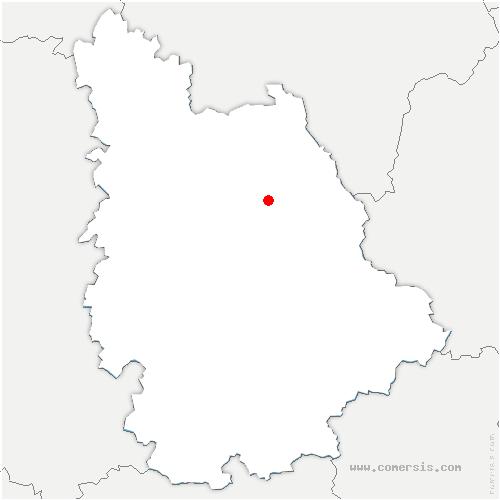 carte de localisation de Availles-en-Châtellerault