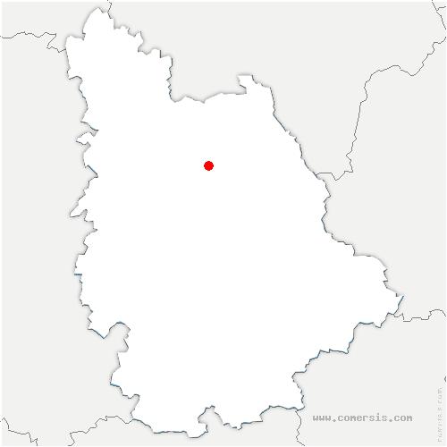 carte de localisation de Beaumont Saint-Cyr
