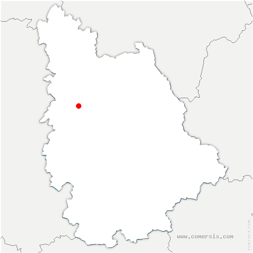 carte de localisation de Champigny en Rochereau