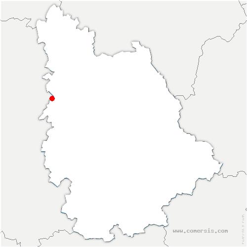 carte de localisation de Cherves