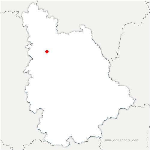 carte de localisation de Chouppes