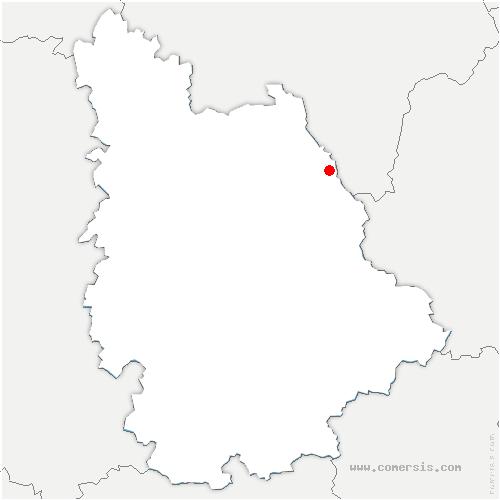 carte de localisation de Coussay-les-Bois