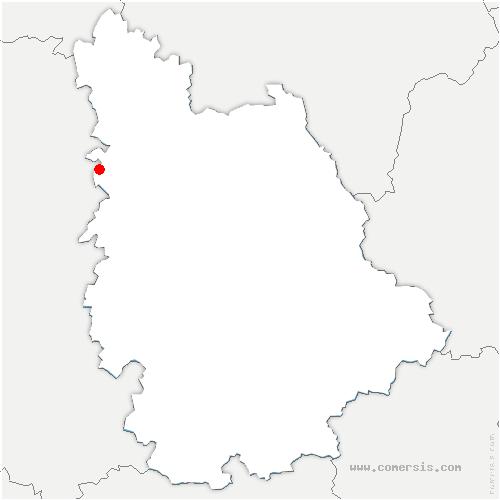 carte de localisation de Craon