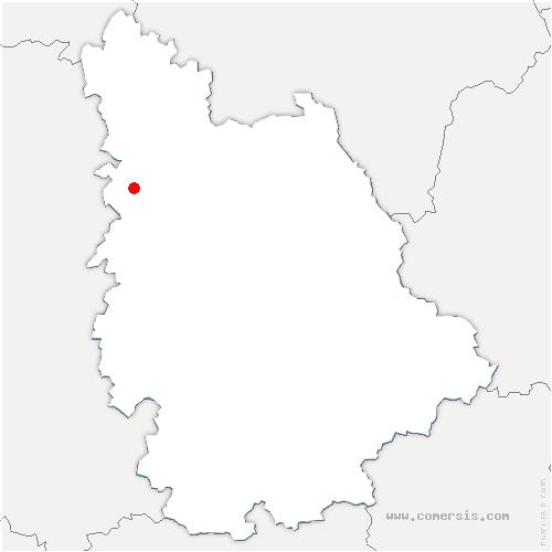 carte de localisation de Grimaudière