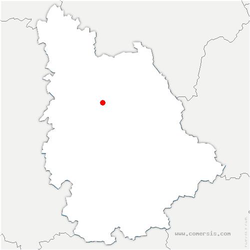 carte de localisation de Jaunay-Marigny