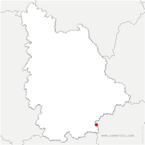 carte de localisation de Luchapt