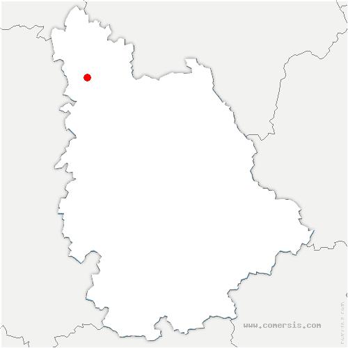 carte de localisation de Martaizé