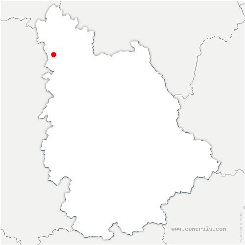 carte de localisation de Moncontour