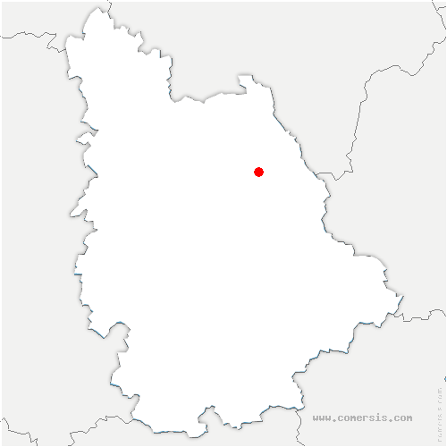 carte de localisation de Monthoiron