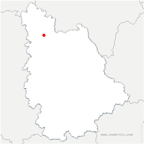 carte de localisation de Monts-sur-Guesnes