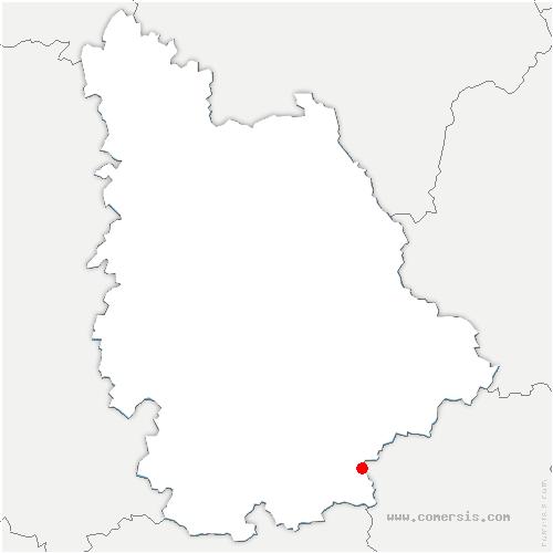 carte de localisation de Mouterre-sur-Blourde
