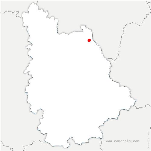 carte de localisation de Oyré