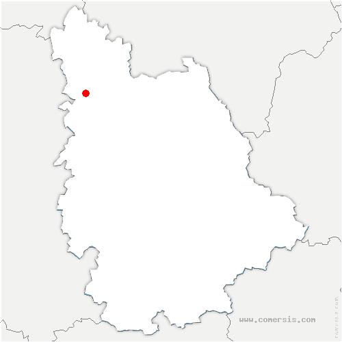 carte de localisation de Saint-Jean-de-Sauves