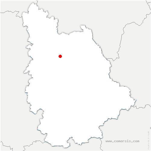 carte de localisation de Saint Martin la Pallu