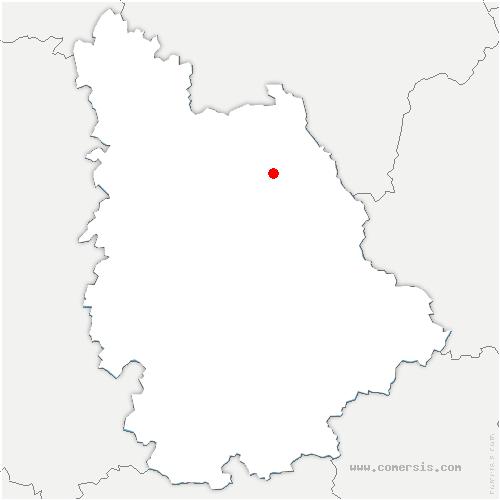 carte de localisation de Senillé