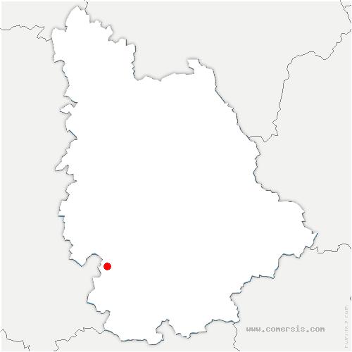 carte de localisation de Valence-en-Poitou