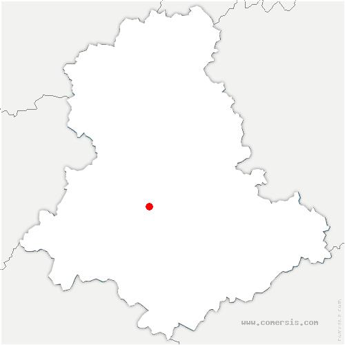 carte de localisation de Aixe-sur-Vienne