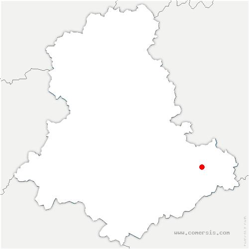 carte de localisation de Augne