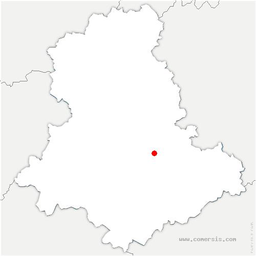 carte de localisation de Aureil