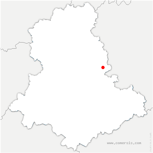 carte de localisation de Billanges