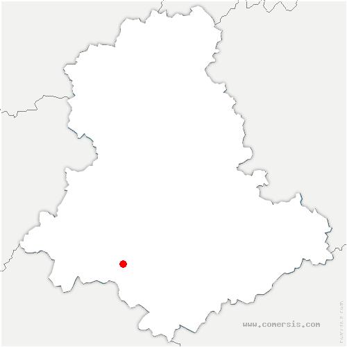 carte de localisation de Bussière-Galant
