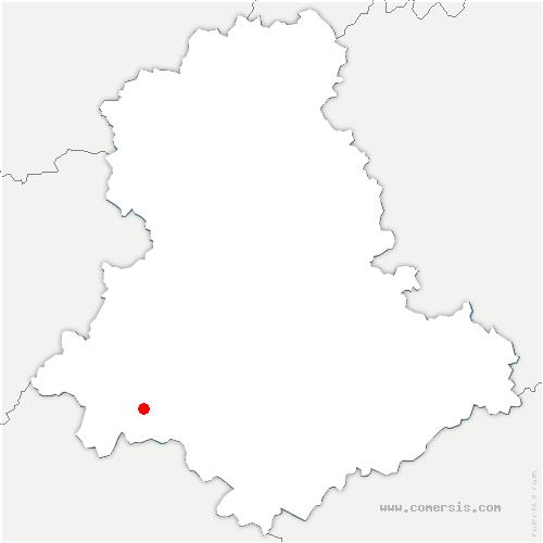 carte de localisation de Châlus