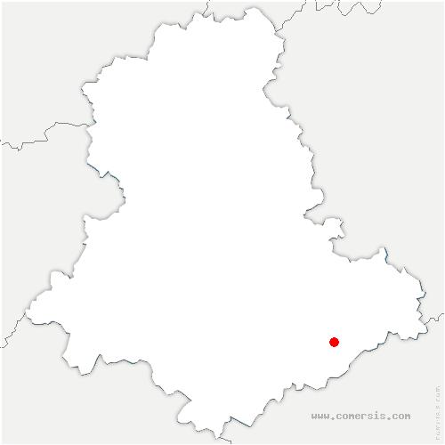 carte de localisation de Châteauneuf-la-Forêt