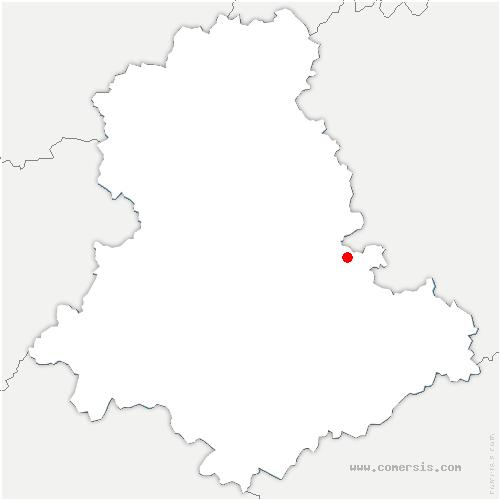 carte de localisation de Châtenet-en-Dognon