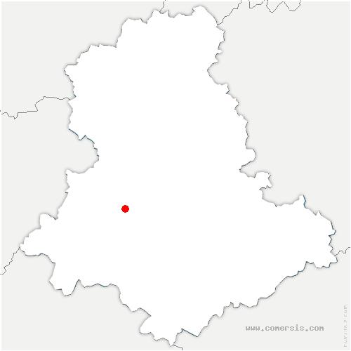 carte de localisation de Cognac-la-Forêt