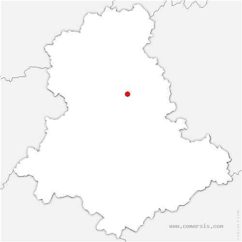 carte de localisation de Compreignac