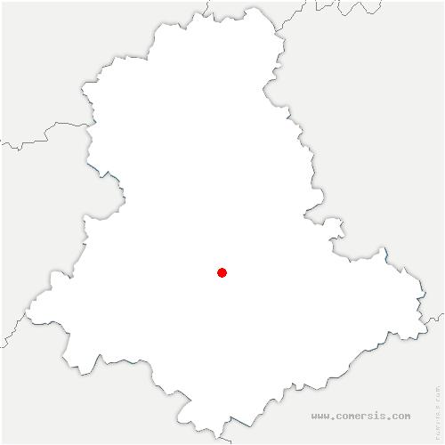 carte de localisation de Condat-sur-Vienne