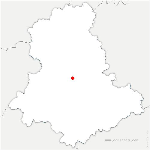 carte de localisation de Couzeix